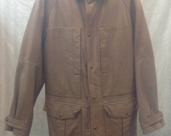 The Territory Ahead Men Leather Coat sz medium