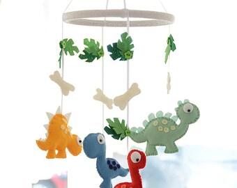 Dinosaur Mobile / Nursery Mobile / Baby Mobile / Felt Mobile /  MADE TO ORDER