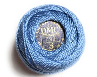 DMC Perle Cotton Thread Size 5 Medium Delft Blue 799