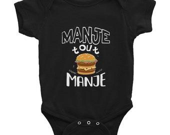 Infant Bodysuit - Manje Tout Manje