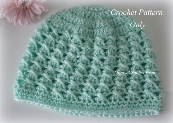 Crossed Dcs Baby Hat Crochet Pattern Size 3 6 Months Easy To