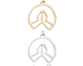 Praying Hands pendant (Silver or Gold) [5 pieces]