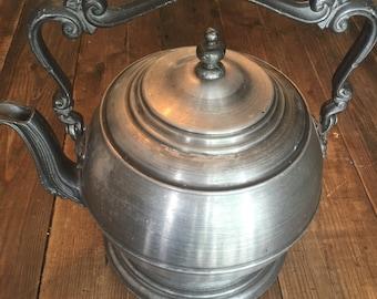 Pewter Ice Bucket Vintage