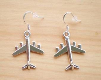 Airplane Earrings, Travel Earrings, Vacation Earrings, Charm Earrings, Jewelry Findings