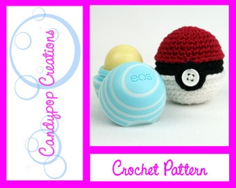 Pokemon Chapstick Cozie Keychain Crochet Pattern
