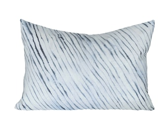 READY TO SHIP - 13x19 Blurred Stripe designer pillow cover (sized for 13x21 insert) - Rebecca Atwood