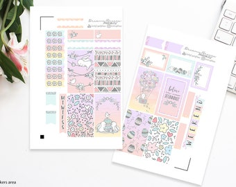 Easter Mini Kit | New Beginnings | Printable Planner Stickers | Happy Planner