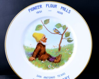 Pioneer Flour Mills Collectable Plate ca 1928