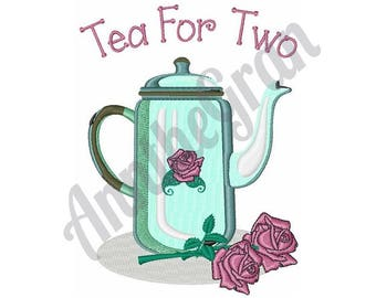 Tea For Two - Machine Embroidery Design
