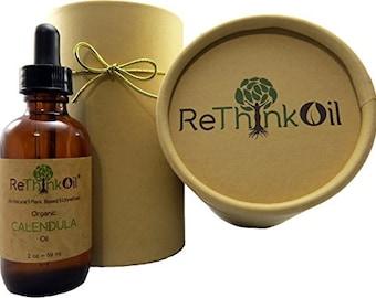Organic Calendula -Jojoba oil infusion (glass bottle with dropper top and ECO tube)
