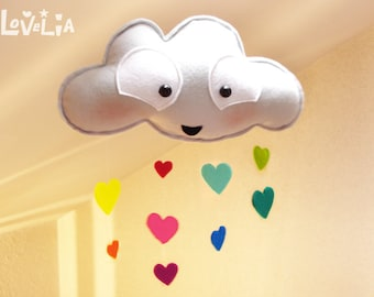 Rainbow cloud  - Rain cloud mobile-