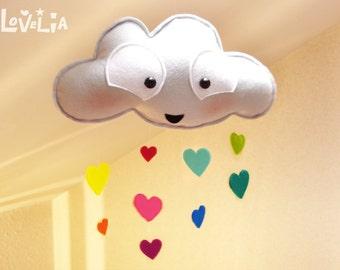 Arc en ciel nuage - pluie - mobile