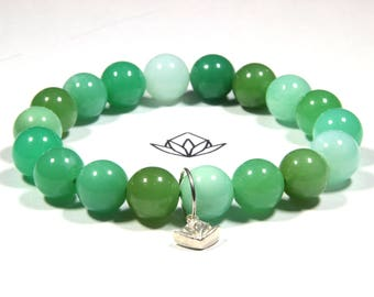 "Chrysoprase 18 x 11mm Beads 22g Wrist 6 3/4"" Stretch Bracelet - Rare Beads"