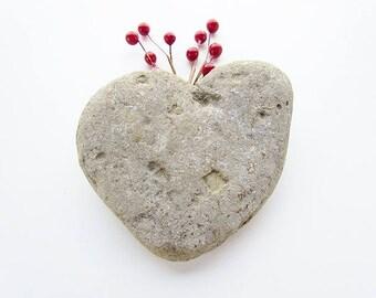 Large Heart Shaped Sedimentary Rock, Assemblage, Rustic Decor, Geology, Aquarium, Mixed Media Supply