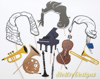 CUSTOM Photo Booth PROP | Photo Props | Musical themed | Classical Instruments | Instruments | Music & Art | Rap | Hip Hop