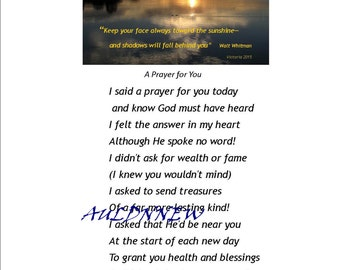 Original Fotografie Wall Art / eine Gebet für SIE Download Original Fotokunst und besonderes Gebet