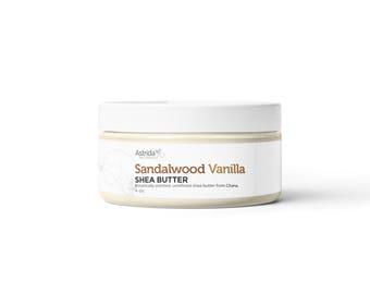 Sandalwood Vanilla Unrefined Shea / Scented Shea Butter / Organic Shea / Natural Shea Butter for Dry Skin / Fair Trade Shea