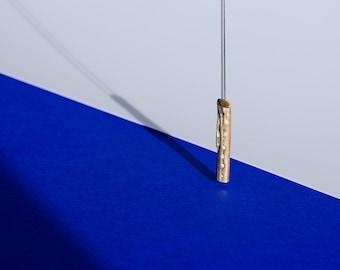 Necklace bronze twig