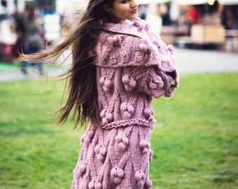 Exclusive Cardigan Coat Handmade knitted wool Fashion Knit cardigan Luxury Cardigan coat