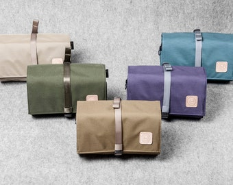 Canvas Dopp kit Toiletry Bag Travel Shaving Kit Toiletry Organizer Travel Case Leather Shave kit Gift for Man Groomsmen Groom Wedding