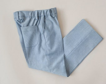 Light blue boys suit trousers
