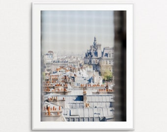 Paris Photography, Paris Decor, Paris Print, Paris Wall Art, Paris Bedroom Decor, Paris Architecture, Paris Rooftops, Vintage Paris