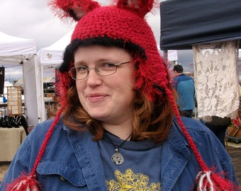 Fox hat with earflaps