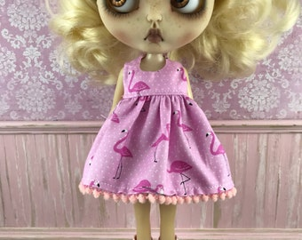 SALE - Blythe Dress - Flamingos