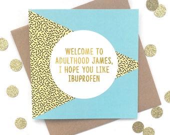 18th birthday card etsy funny 18th birthday card personalised 18th birthday card funny birthday card 18th birthday bookmarktalkfo Gallery