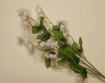 silk baby's breath flower stem, white (DD)