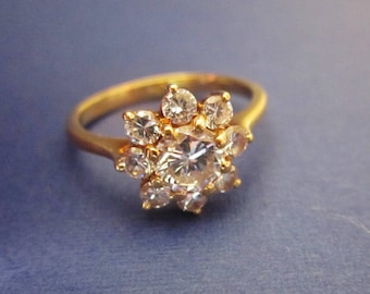 18Kt Gold and CZ Ring size 6 Promise Ring
