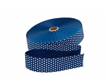 Navy 30mm strap has dots cotton from 50 cm
