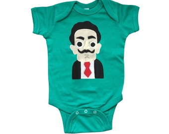 Dali Baby Bodysuit - Kelly Green
