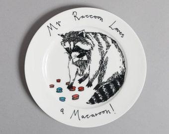 Mr Raccoon loves a Macaroon side plate