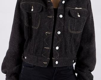 Vintage 90s Jacket by diesel - 90s ladies jacket - vintage - diesel 90s vintage - size M - jacket with short cut - ladies vintage jackets -.