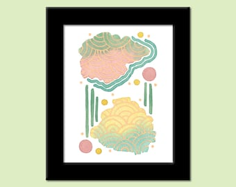 Colors of the Day 68 - Colorful Contemporary Modern Abstract Art Print by Megan Q.C. Gallagher