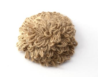 Burlap flower for sewing or craft 6 cm