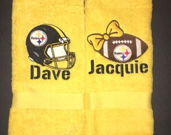 His and Hers Towel Set - Steelers