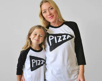 Pizza Slice Baseball Jerseys Shirts, Birthday gifts, Dad Matching, Foodie Gift Men, Funny T shirts, Daddy and Son, Father Son Shirts