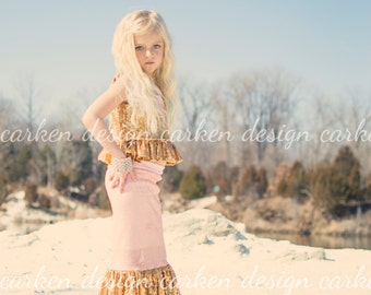 mermaid party skirt tail toddler halloween costume mermaid outfit party COLORBLOCK SKIRT ONLY child adult light pink gold long sequin maxi