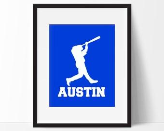 Baseball Room Decor, Personalized Baseball Print, Baseball Decor, Baseball Gift, Baseball Wall Decor