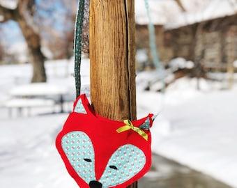 Fox purse, fox satchel, kids purse, felt purse