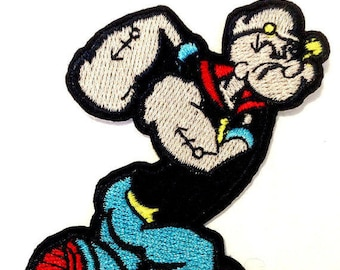 FUSIBLE APPLIQUE: Popeye 85 * 50mm