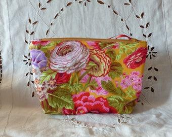 Large cosmetic case in designer fabric