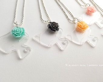 Clear Acrylic Cat Necklace