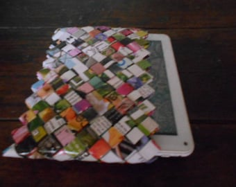 Woven paper Tablet cover