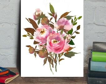 Fall flower digital, flower bouquet digital, flower art print, flower wall decor, flower arrangment, digital flower art, digital floral art