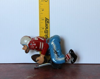Windup Tin Toy Football Player