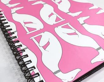 Ruled Journal - Pink Greyhounds