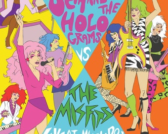Jem and the Holograms vs The Misfits Poster